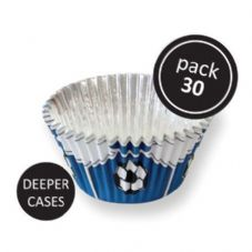 Blue Football Baking Cases
